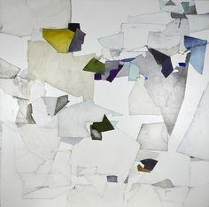 "Dorota Jedrusik / ""in the air - line...060"" / oil on canvas / 100x100cm (40""x40"") / 2017"