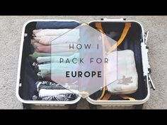 A comprehensive video demonstration of KonMari Folding! Here's how to fold clothes using the KonMari Method so that they stand upright to save more space in . Packing For Europe, Suitcase Packing, Carry On Suitcase, Packing Tips For Travel, Travel Ideas, How To Fold Sweaters, Closet Tour, Packing Checklist, Konmari Method