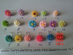 Tappo antipolvere fiore x jack cuffie 3.5mm universale Android iPhone 6 5s 5c