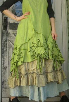Sunflower Dress by sarahclemensclothing on Etsy, $149.00