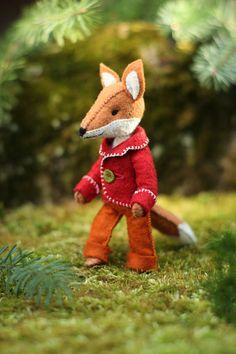 Felix Fox PDF pattern, modèle Animal feutre - peluche Fox couture patron - Animal, fox vacances, fantastique fox, kit de couture artisanale