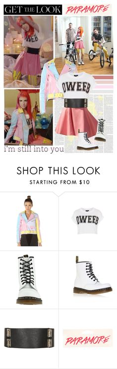 """""""Get The Look: Hayley Williams in Paramore's 'Still Into You' Music Video"""" by mojmoj ❤ liked on Polyvore featuring mode, UNIF, Topshop et Dr. Martens"""