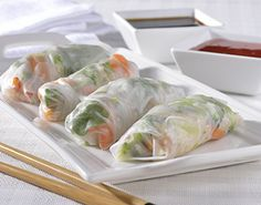 Vegetable rolls - will add shrimp and crab.