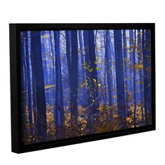 Blue Forest by Lindsey Janich Gallery-Wrapped Floater-Framed Canvas
