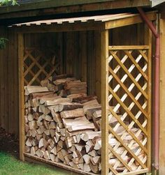 Woodshed ideas...this would be good to have next to the garage away from the wood pile so I don't have to go way out in three feet of snow every other day!
