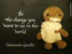 Crochetted Gandhi amigurumi