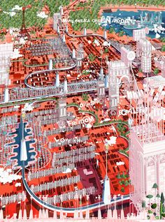 """Vilius Vizgaudis reimagines Texan city as """"capital of sustainable living"""" Bartlett School Of Architecture, Architecture Student, Architecture Drawings, Sustainable City, Sustainable Living, Importance Of Water, Equality And Diversity, Water Storage Tanks, Illustration Story"""