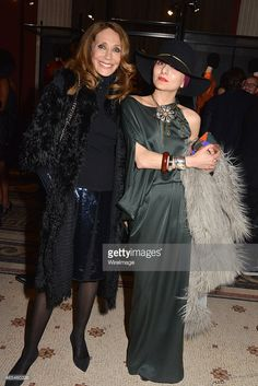 PARIS, FRANCE - MARCH 06: Marisa Berenson and Catherine Baba attend the Jeanne Lanvin Retrospective At Palais Galliera as part of the Paris Fashion Week Womenswear Fall/Winter 2015/2016 on March 6, 2015 in Paris, France.