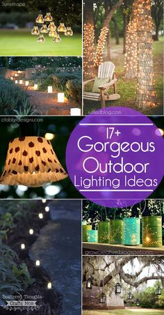 Diy garden lighting ideas pinterest diy mozeypictures Images