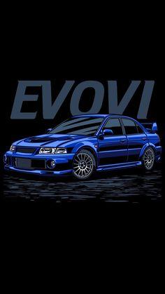Evo VI Poster #Mitsubishi #Lancer # EvoVI #ralliart