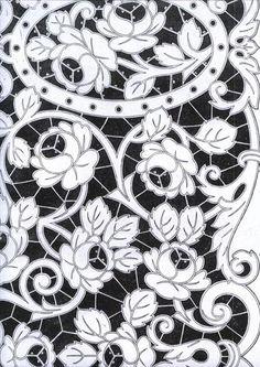 Видео мастер-класс: Имитация вышивки ришелье с помощью росписи