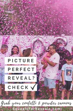 Shop our gender reveal collection for the most unique gender reveal experience! Our confetti cannons and smoke cannons make amazing pictures! Sibling Gender Reveal, Gender Reveal Pictures, Fall Gender Reveal, Confetti Gender Reveal, Gender Reveal Balloons, Balloon Box, Reveal Parties, Cool Pictures, Powder