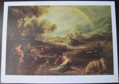 19 NOTE CARDS PETER PAUL REUBENS ART Landscape with a Rainbow Thank you note