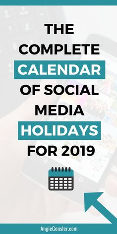 The Complete Calendar of Social Media Holidays for Click through for 46 holidays your business should celebrate on social media next year. This list is super helpful with what to post on social media. Facebook Marketing, Content Marketing, Online Marketing, Social Media Marketing, Digital Marketing, Marketing Tools, Business Marketing, Social Media Content, Social Media Tips