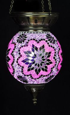Hand Made Mosaic Lamp Small Hanging Ball di UniqueHomeLondon, £91.65