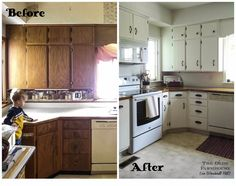 The Olde Farmhouse on Windmill Hill: In the which the Farmhouse Kitchen gets painted cabinets {and wooden countertops}