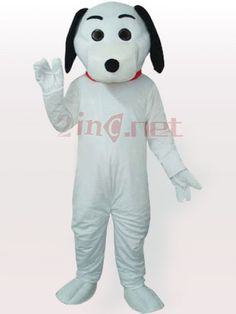 $279.64Black Eared White Dog #Adult #Mascot #Costume