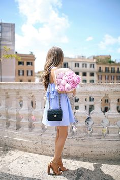ruffle dress in Rome