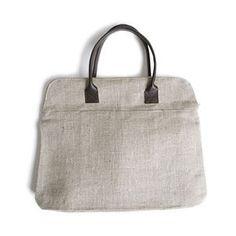 Benue Natural Linen Bag | Mjölk: Scandinavian & Japanese Design found on Polyvore