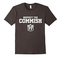 Men's Respect The Commish Fantasy Football T-Shirt Commis…