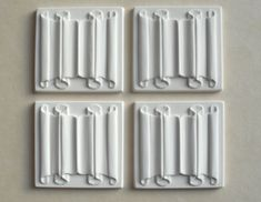 An image of <p>A set of 4 linen-fold panels that can be made up into wall panels with the use of timber strip mouldings and painted to look like wood</p>