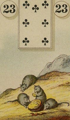 23 The Mice - The Lenormand Oracle by Marie Anne Adelaide Lenormand