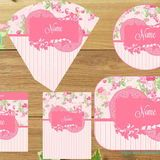 Kit Festa Floral no Elo7 | Marla Personalizados (2BC225) Shabby Chic, Floral, Decor, Mint To Be, House Party, Decoration, Florals, Decorating, Deco