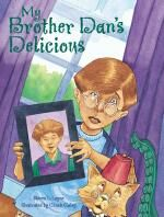 """Upper grade lesson in which students write an argument that asks a monster or some other carnivore to eat elsewhere; based on the mentor text """"My Brother Dan's Delicious;"""" by Corbett Harrison"""