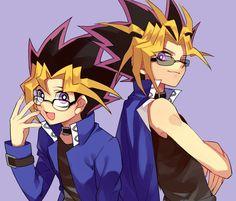 Yugi and Yami + glasses = bishonen!