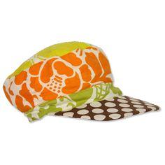 Upcycled Patchwork Baby Hat - Orange 1d48dabb0ba7
