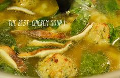 chicken soup with pork meatballs by DineGirl