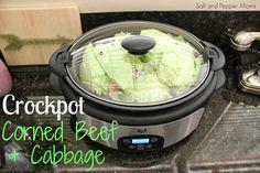 Salt and Pepper Moms: Crock Pot Corned Beef & Cabbage