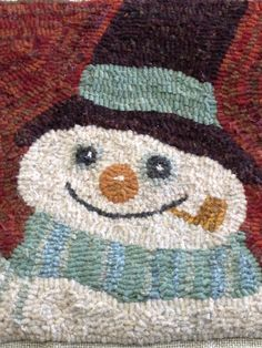 Gosh this is hooked beautifully. Rug Hooking Designs, Rug Hooking Patterns, Christmas Rugs, Christmas Crafts, Xmas, Christmas Ornaments, Punch Needle Patterns, Latch Hook Rugs, Hand Hooked Rugs