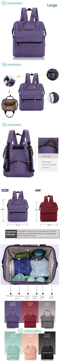 L super large capacity multifunctional backpack nappy bag baby diaper bags changing mat mommy bag babies care product $41.59