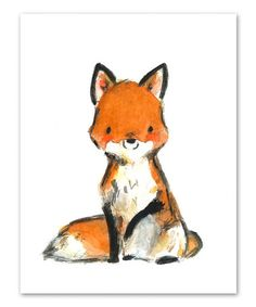 Loving this Little Red Fox Print on #zulily! #zulilyfinds