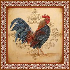 I uploaded new artwork to fineartamerica.com! - 'Renaissance Rooster-b' - http://fineartamerica.com/featured/renaissance-rooster-b-jean-plout.html via @fineartamerica