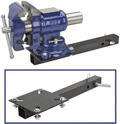 Trailer Hitch Mount Vise Plate Portable mounting option for your vice Fits any standard hitch receiver Heavy duty all steel construction Rustproof powder coating Welding Bench, Welding Tools, Bench Vise, Garage Tools, Garage Shop, Garage Workshop, Welding Trailer, Trailer Hitch, Metal Projects