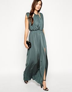 draped maxi dress from asos - love this color