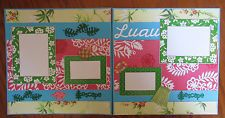 12 x 12 premade scrapbook layout titled Luau -2 page & assembled vacation
