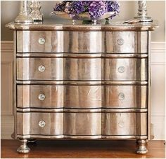 Upcycle a Chest of Drawers with Metallic Spray Paint