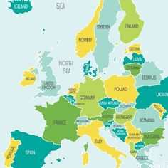 Map of Europe for kids!