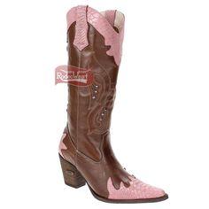 Bota Texana Feminina Cobra Anaconda Pink - Agabê: Mulheres