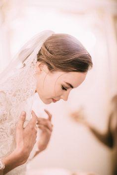Backstage. Marchesa Fall 2015 Bridal. / Wedding Style Inspiration / LANE