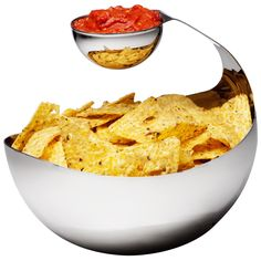 Stainless steel chip and dip set great kitchen gifts