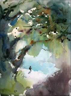 Mendocino 2  Original Watercolor Painting 12x9 by CMwatercolors, $180.00
