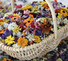 Flower Girl Basket and Dried Flowers Wedding by LarkspurHill,