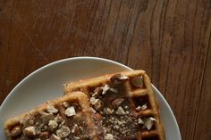 Try out this absolutely mouthwatering Caramel Almond Belgian Waffles w/ Brown Butter-Sugar Glaze-Coming Soon to The Savour at https://www.EatTheSavour.com