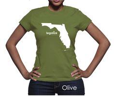 #Florida Legalize Pot Women's T-Shirt #PotTeez