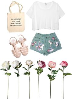 """summer"" by californiapunx ❤ liked on Polyvore"