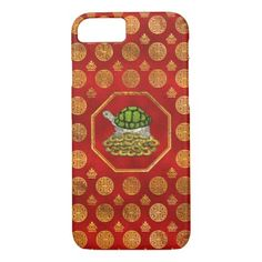 Golden Tortoise / Turtle Feng Shui  with coins iPhone 8/7 Case - diy cyo personalize design idea new special custom